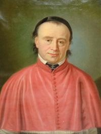 portrait d'un chanoine de st-maurice by lorenz justin ritz