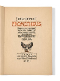 prometheus (bk by lucien dhuys w/18 works, 4to) by frantisek kupka