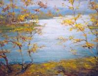 autumn by riverside by stanislavs kreics