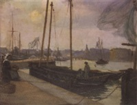 concarneau by alfred victor fournier