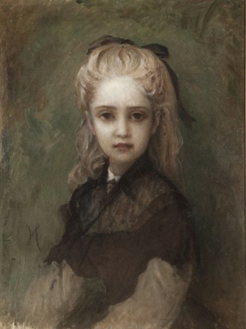 portrait de fillette by ernest hérbert