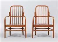 armchairs (mmodel no. a63/f) (pair) by josef frank