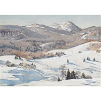 winter, charlevoix by henry john simpkins