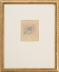 composition abstraite (square); composition abstraits (2 works) by jacques villon