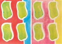 empreintes (set of 2) by claude viallat
