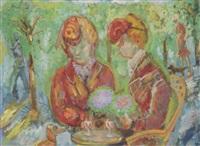 deux femmes attablées by édouard joseph goerg