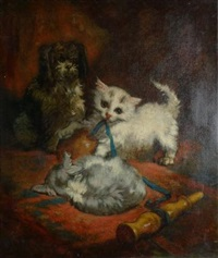 chiot et chatons by charles monginot
