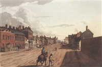 south view of dunstable, bedfordshire by thomas fisher