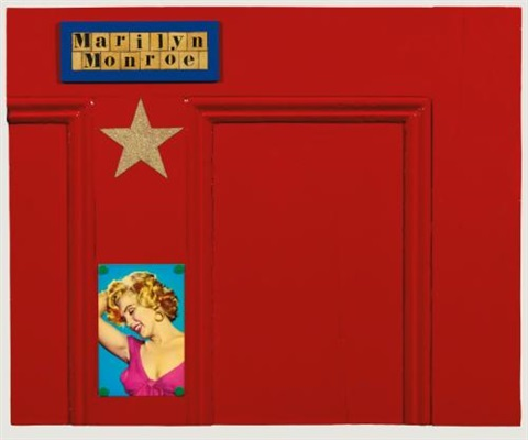 piece of marilyn monroes dressing room door by peter blake