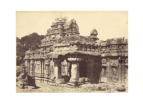 a group of 6 temple views at pattadakal 6 works by thomas biggs