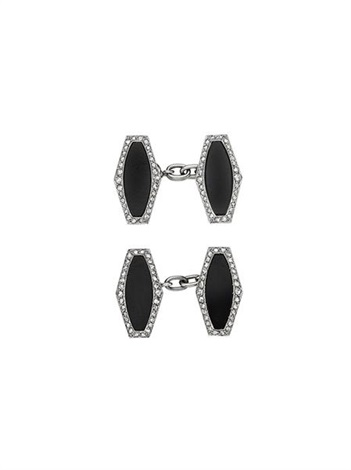 art deco cufflinks pair by cartier