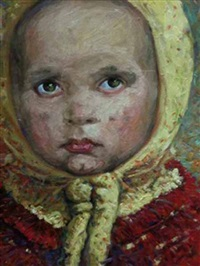 portrait of a child by shahin memishi