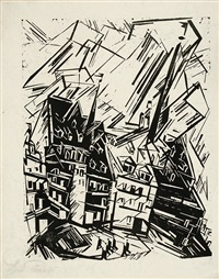 high buildings - hohe gebäude by lyonel feininger