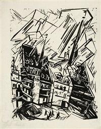high buildings - hohe gebäude by lyonel feininger