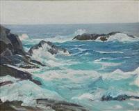 monhegan coastal view by george g. adomeit