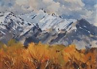 mountain scene by douglas badcock