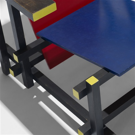 red blue chair by gerrit rietveld