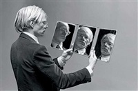 portrait de l'artiste andy warhol by philippe morillon