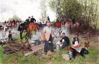 a military festival by theodor volmar