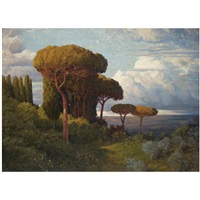 pine trees near rome by max roeder