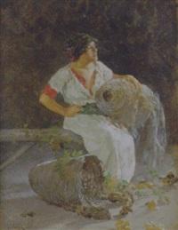 popolana con cesta by vincenzo volpe