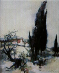 paysage de provence by albert deman