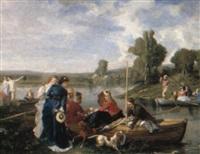 la partie de pêche by alfred louis andrieux