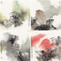 landscape (+ 3 others; 4 works) by mao fan