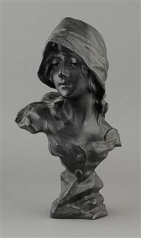 buste de jeune fille au chapeau by morin