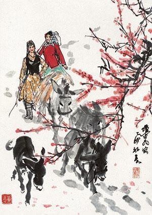 采风图 by huang zhou