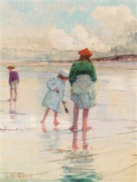 on the beach by walter bonner gash