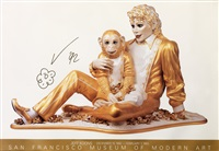 michael jackson and bubbles (sfmoma poster) by jeff koons
