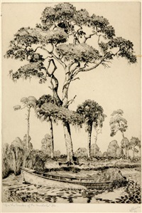 on the banks of the anclote, florida by walter ronald locke