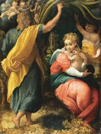 the rest on the flight to egypt by pomponio allegri