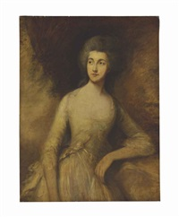 portrait of a lady, three-quarter length, traditionally identified as mrs. fisher (mary gainsborough) by thomas gainsborough