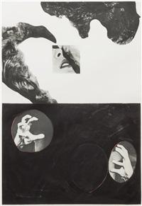 hegel's cellar: kiss hair and hands by john baldessari
