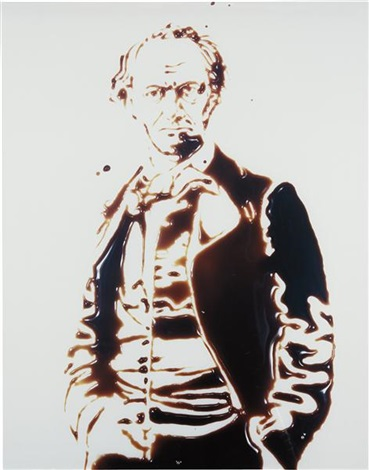 charles baudelaire (from pictures of chocolate) by vik muniz