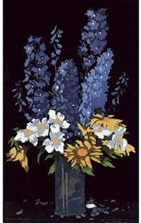 delphiniums by thomas todd blaylock