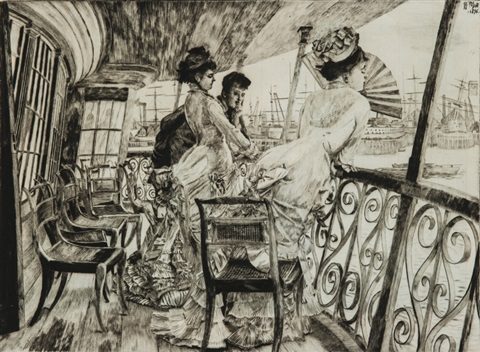 la galerie du calcutta by james jacques joseph tissot