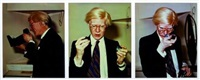 andy (triptych) by zoa and andy warhol