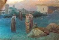 famille caucasienne by evgeniy ivanovich pospolitaki