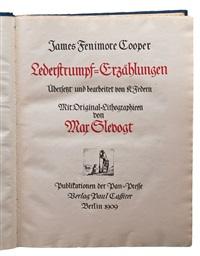 lederstrumpf-erzählungen (bk by james fenimore cooper w/312 works) by max slevogt