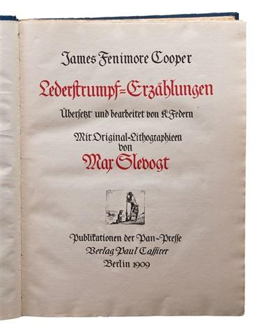 lederstrumpf erzählungen bk by james fenimore cooper w312 works by max slevogt