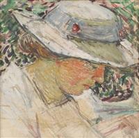 jeune femme au chapeau by joseph raphael