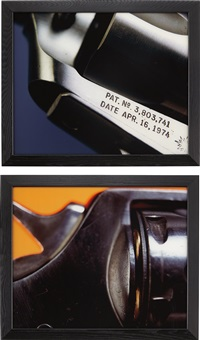 colt d.a. 45 (+ virginian dragoon, 44 magnum from objects of desire; 2 works) by andres serrano
