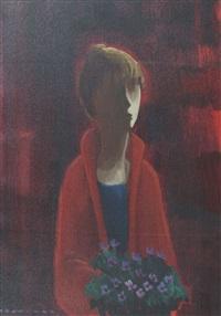 donna con fiori by eliano fantuzzi