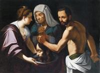 salome empfängt das haupt des täufers - salomè riceve la testa del battista by carlo sellitto