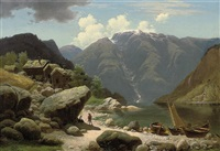 a conversation by a norwegian fjord by georg eduard otto saal