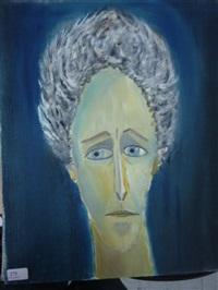 portrait de l'homme bleu by roussin