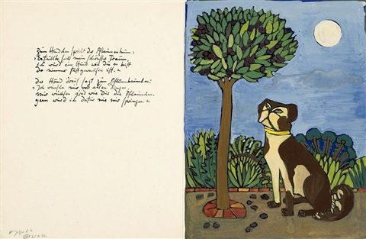 zum hündchen spricht der pflaumenbaum by horst janssen